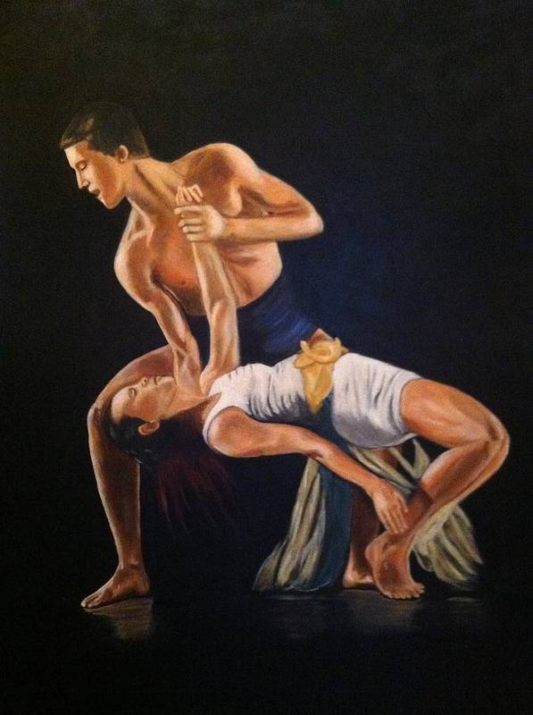 Dance Poster featuring the painting His Passion by Lynette Brown