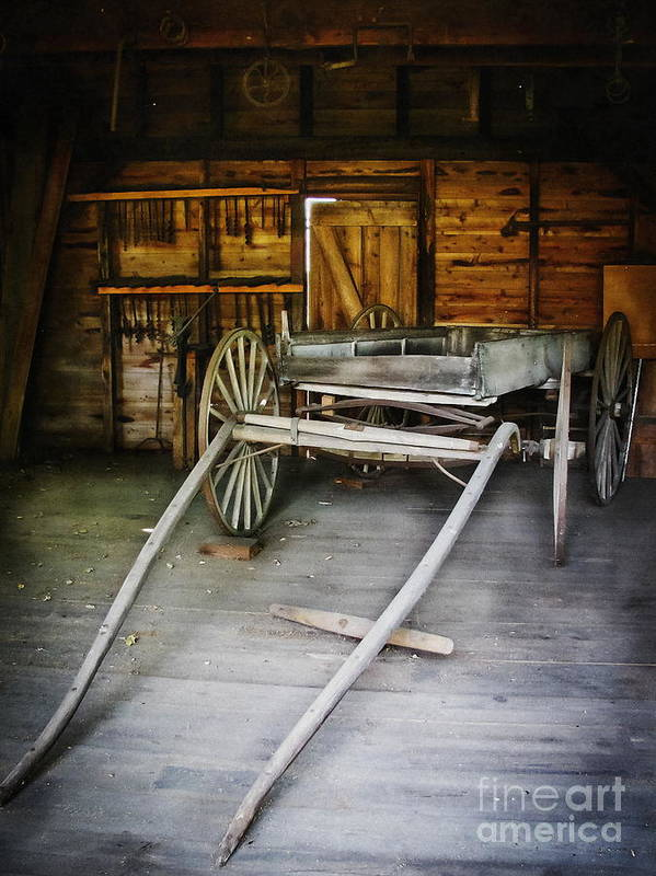 Wagon Poster featuring the photograph Hitch Your Wagon by Colleen Kammerer
