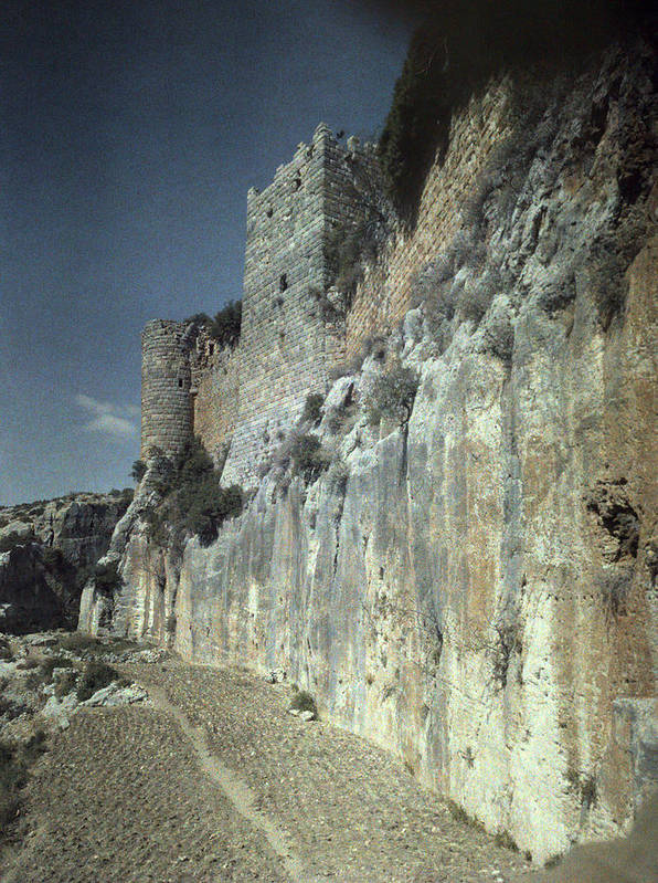 1930s Poster featuring the photograph Moat Of Saladins Castle, A Byzantine by Everett