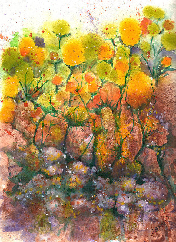 Spring Poster featuring the painting Spring Time Flowers by Audrey Peaty