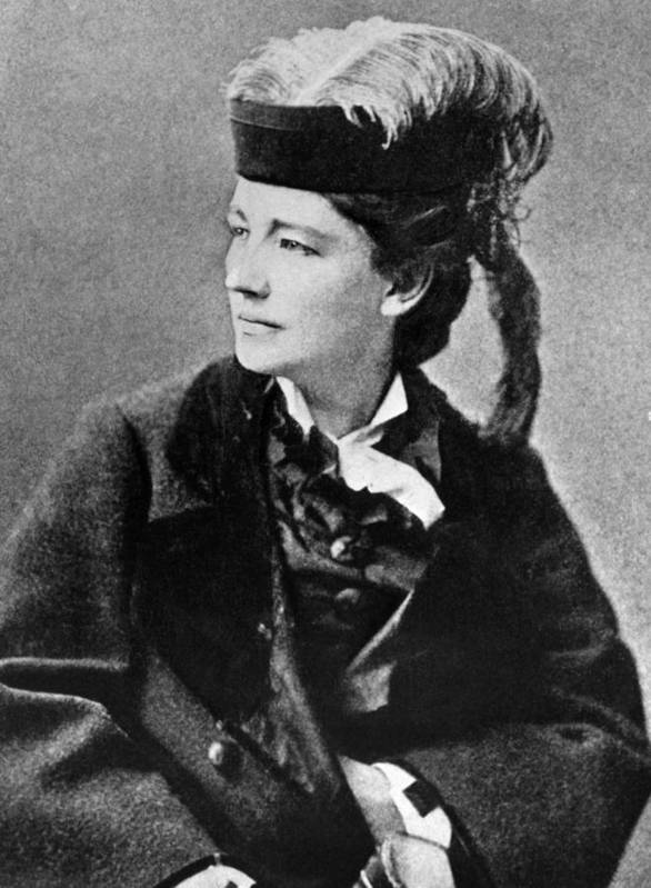 1890s Portrait Poster featuring the photograph Victoria Woodhull 1838-1927, Early by Everett