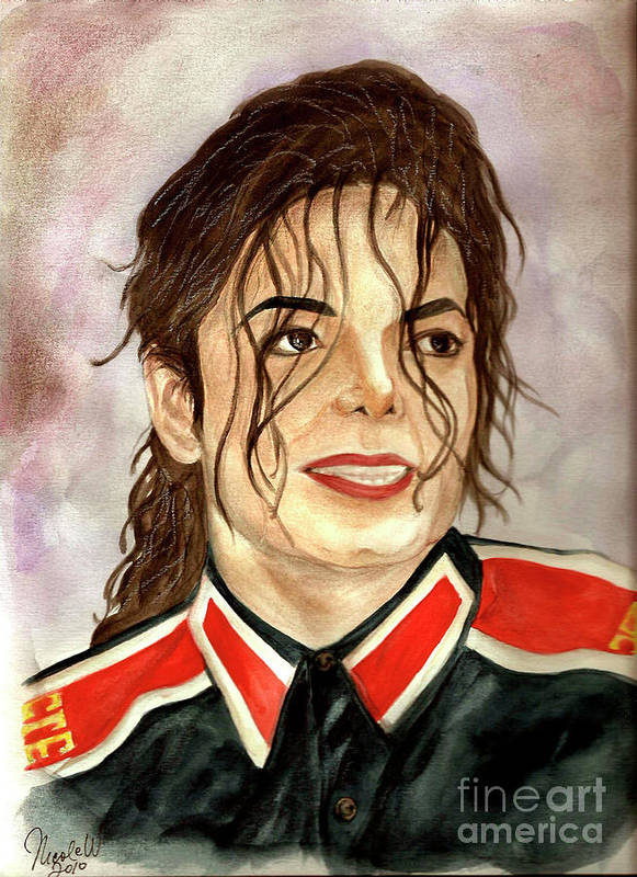 Michael Jackson Poster featuring the painting Michael Jackson - You Are My Life by Nicole Wang