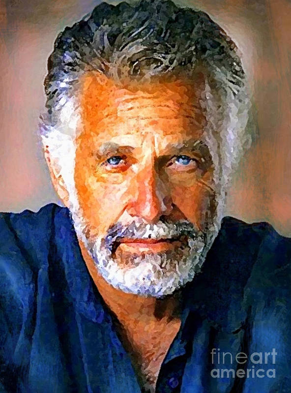 Dos Equis Paintings Paintings Poster featuring the painting The Most Interesting Man In The World by Debora Cardaci