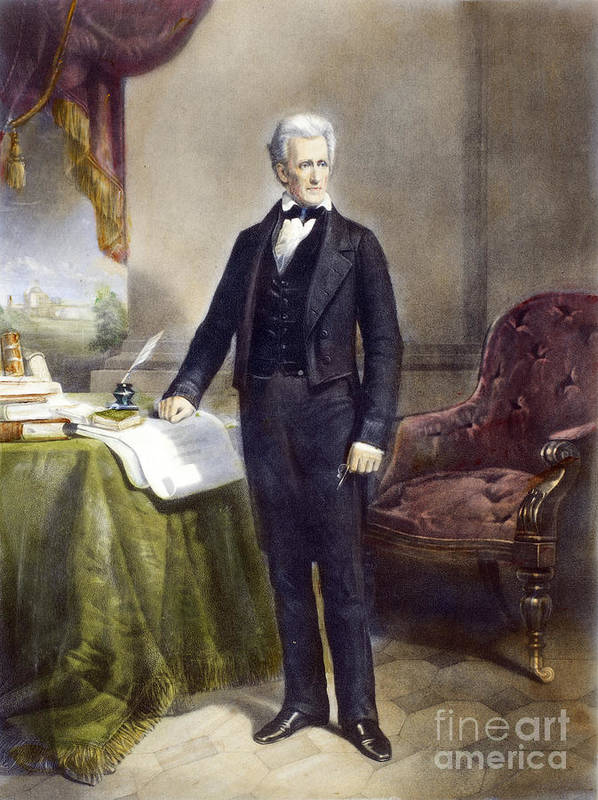 19th Century Poster featuring the photograph Andrew Jackson (1767-1845) by Granger