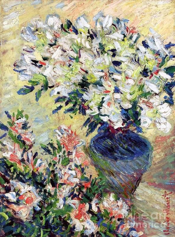 Azaleas Poster featuring the painting Azaleas by Claude Monet