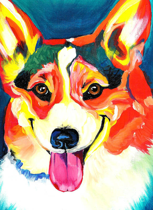 Dog Poster featuring the painting Corgi - Chance by Alicia VanNoy Call