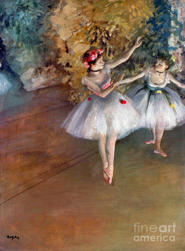 1877 Poster featuring the photograph Degas: Dancers, C1877 by Granger