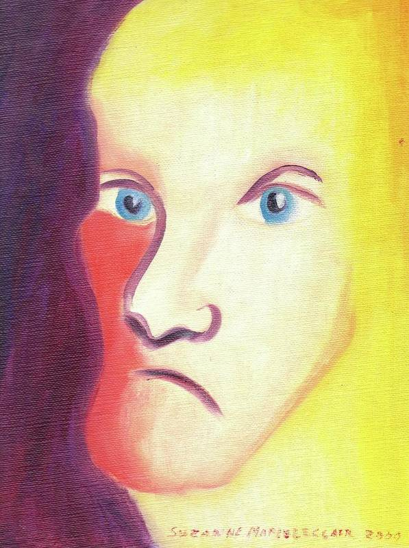 Face Poster featuring the painting Face by Suzanne Marie Leclair