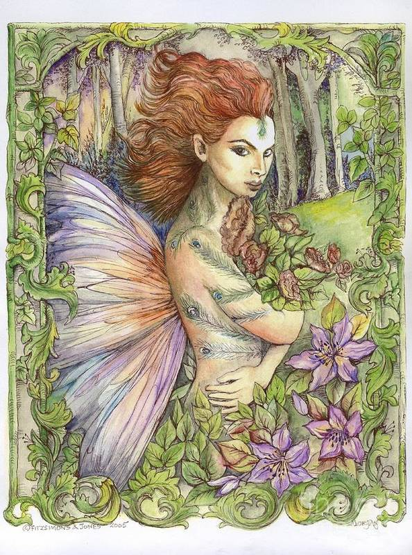 Fairy Poster featuring the painting Fiary Collection 1 by Morgan Fitzsimons