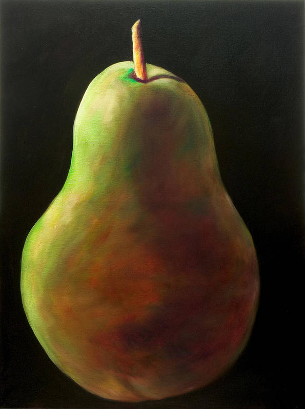 Pear Poster featuring the painting Jan by Shannon Grissom