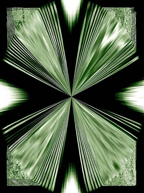 Abstract Poster featuring the digital art Magnetism by Will Borden