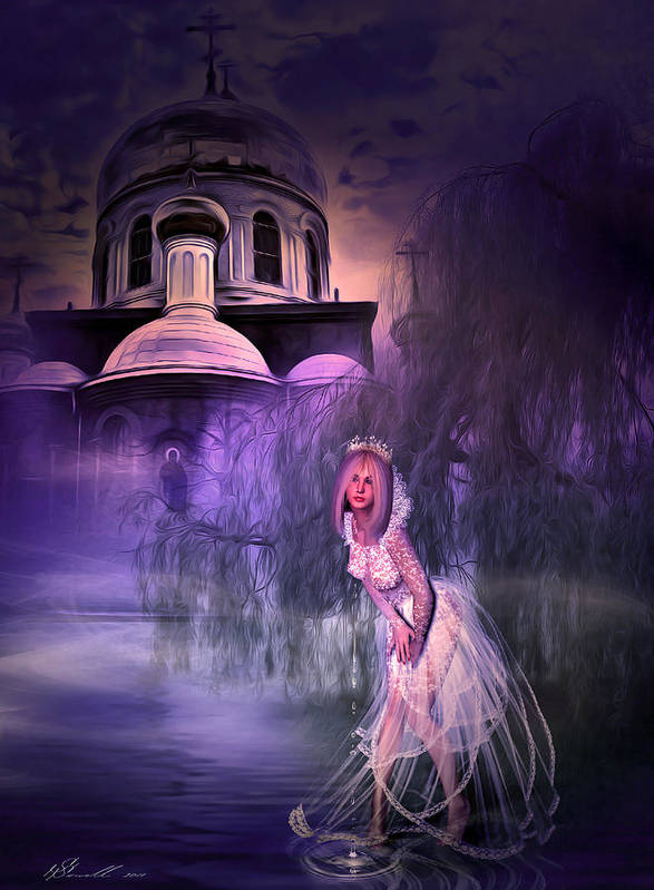 Church Poster featuring the digital art Runaway Bride by Svetlana Sewell