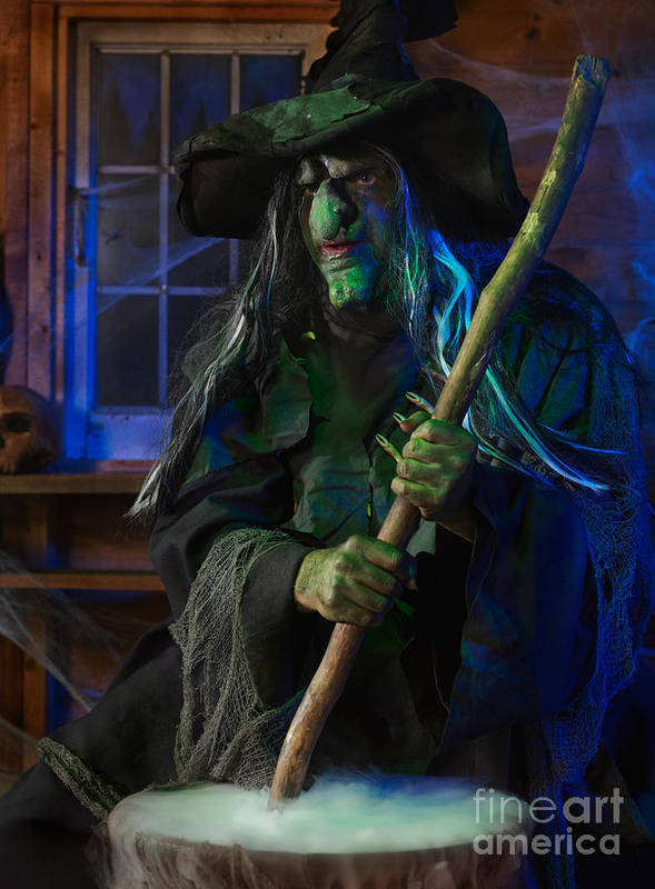 Witch Poster featuring the photograph Scary Old Witch by Oleksiy Maksymenko