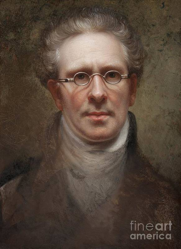 Self Poster featuring the painting Self Portrait by Rembrandt Peale