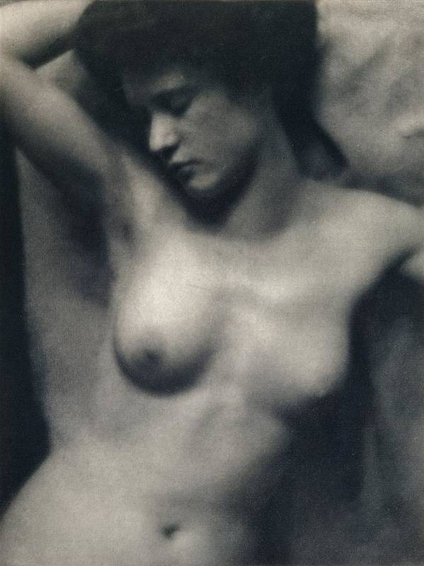 Female; Portrait; Black And White Photograph; Nude; Breasts Poster featuring the painting The Torso by White and Stieglitz