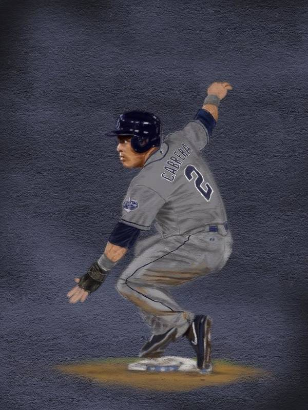 Everth Cabrera Poster featuring the drawing All-star Everth by Jeremy Nash