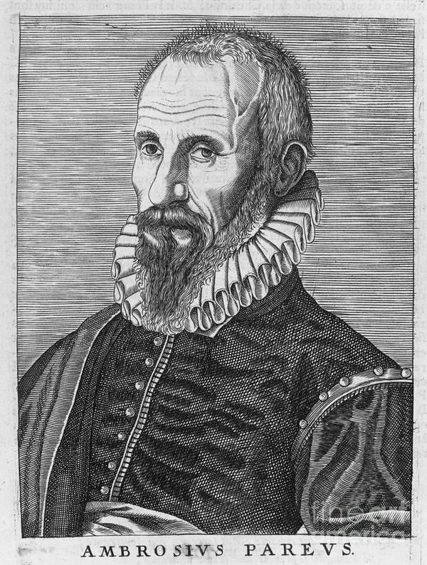 16th Century Poster featuring the photograph Ambrose Pare (1517?-1590) by Granger