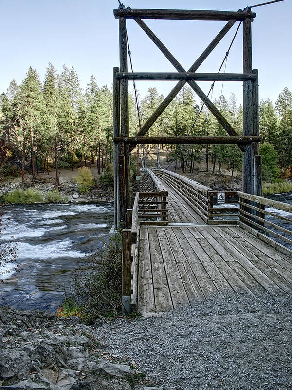 riverside State Park Poster featuring the photograph Bowl And Pitcher Bridge - Spokane Washington by Daniel Hagerman
