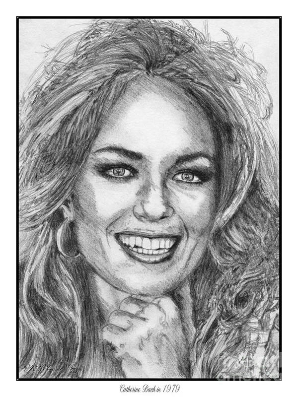 Mccombie Poster featuring the drawing Catherine Bach In 1979 by J McCombie