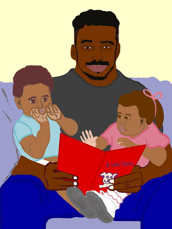 Dad Poster featuring the painting Daddy's Bundles by Pharris Art