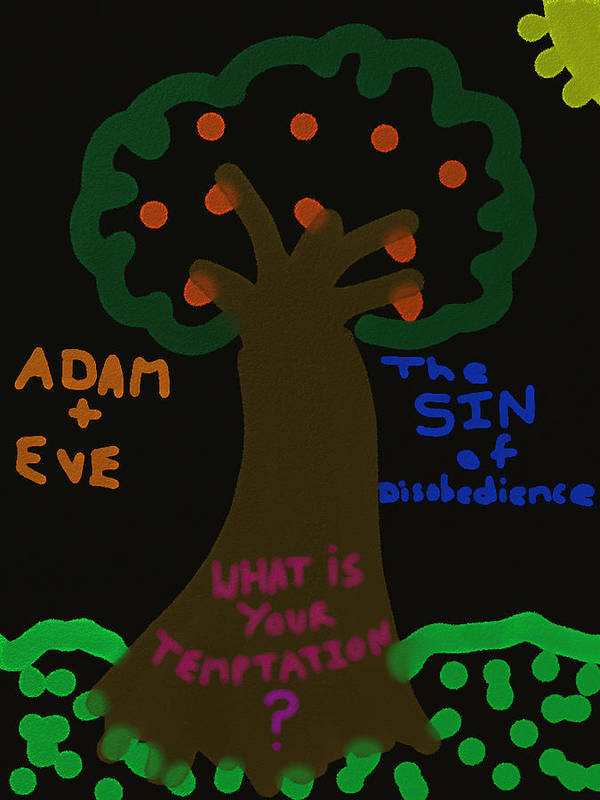 Poster featuring the digital art Garden Of Evil by Michael Jordan