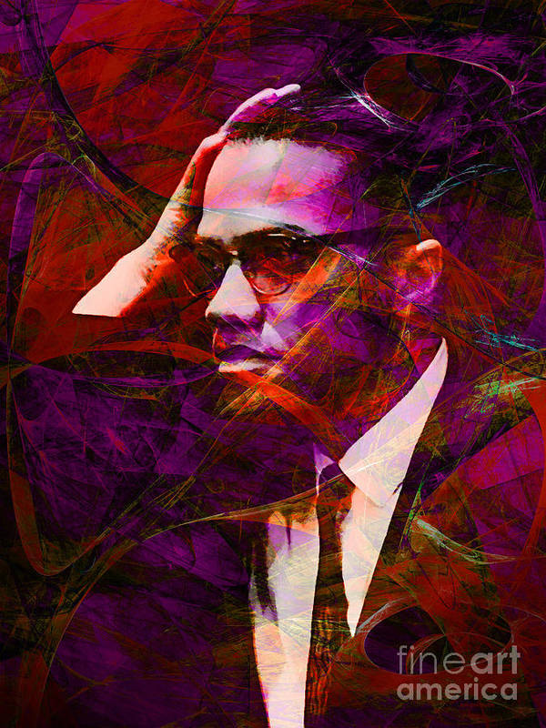 Celebrity Poster featuring the photograph Malcolm X 20140105m28 by Wingsdomain Art and Photography