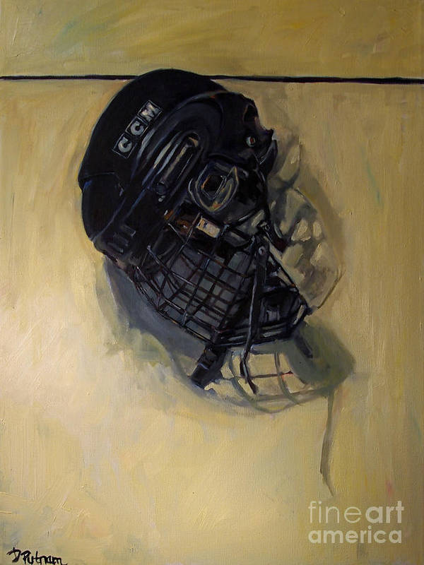 Hockey Poster featuring the painting Maybe Next Year by Deb Putnam