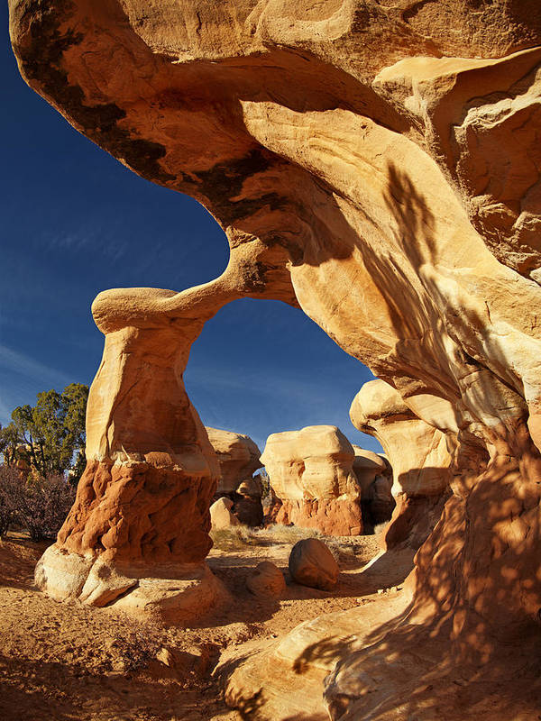 Metate Arch Poster featuring the photograph Metate Arch by Leland D Howard