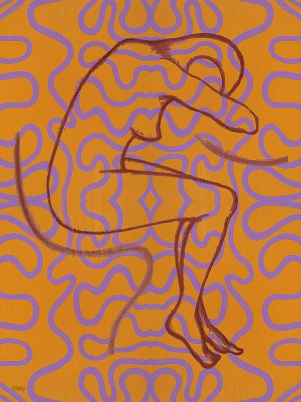 Nude Poster featuring the painting Nude 13 by Patrick J Murphy