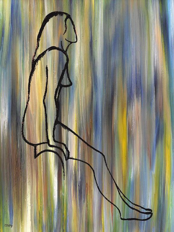 Nude Poster featuring the painting Nude 14 by Patrick J Murphy