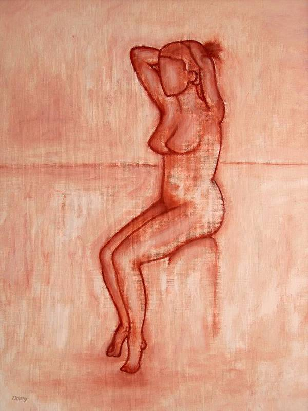 Nude Poster featuring the painting Nude 5 by Patrick J Murphy