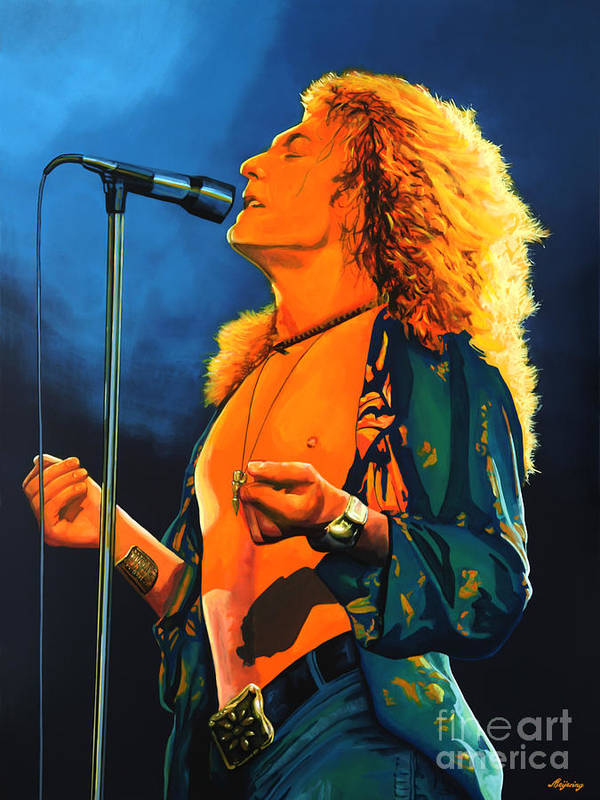 Robert Plant Poster featuring the painting Robert Plant by Paul Meijering