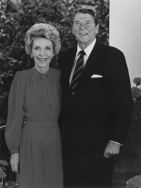 Ronald Reagan Poster featuring the photograph Ronald And Nancy Reagan by War Is Hell Store