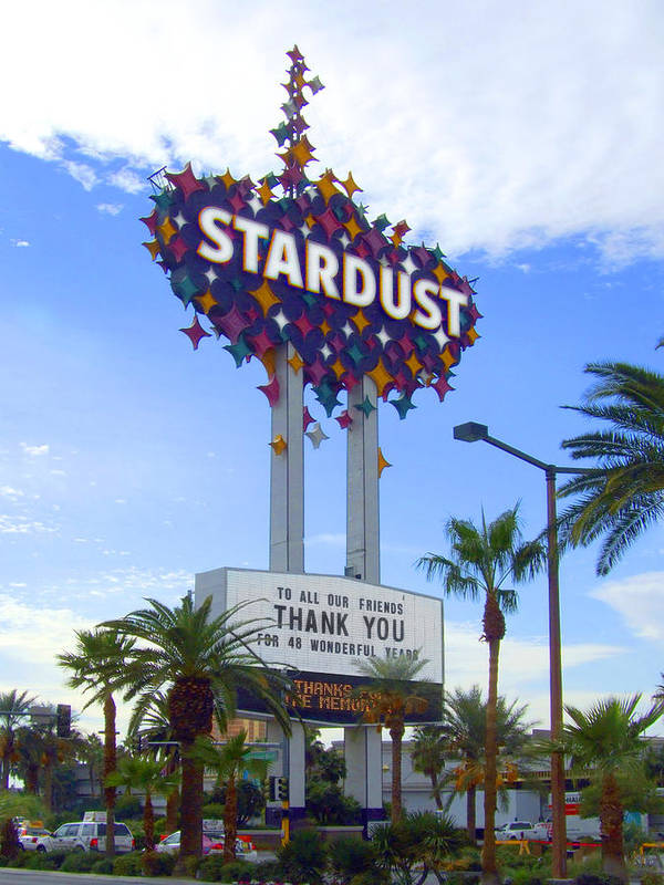 Las Vegas Poster featuring the photograph Stardust Sign by Mike McGlothlen