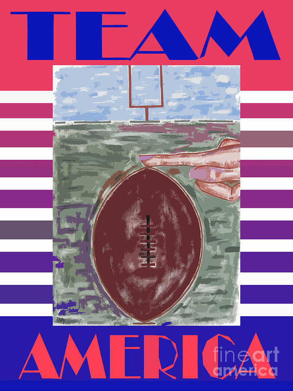 Team America Poster featuring the painting Team America by Patrick J Murphy