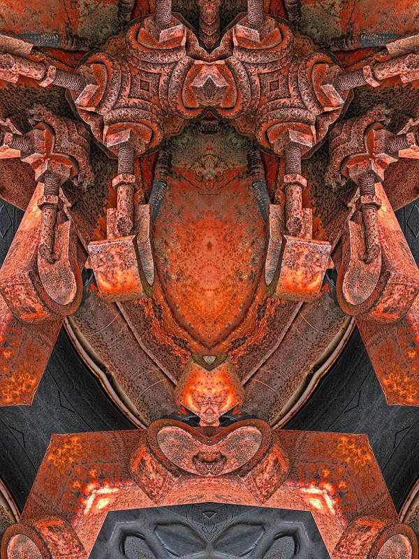 Abstract Poster featuring the digital art Transformed by Wendy J St Christopher