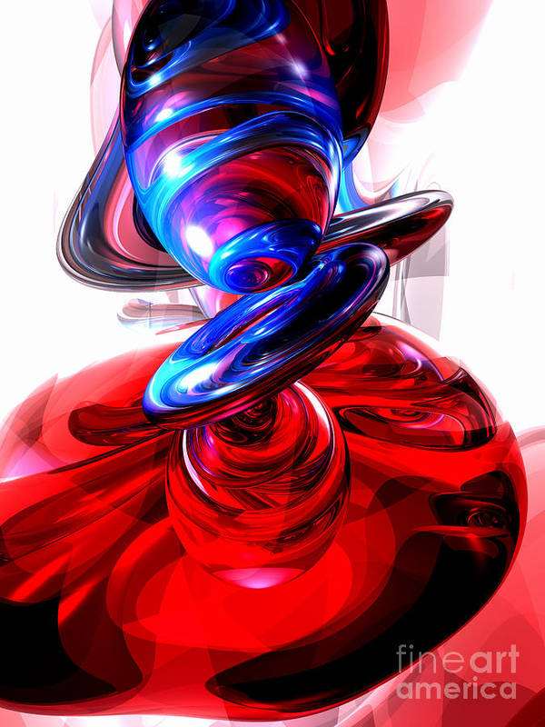 3d Poster featuring the digital art Windstorm Abstract by Alexander Butler