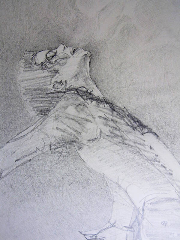 Michael Jackson Poster featuring the drawing A Breath by Hitomi Osanai