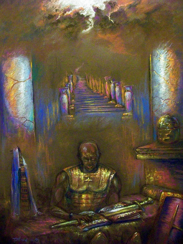 Heaven Poster featuring the pastel Armor Of God by Tommy Winn