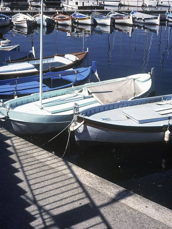 Photography Poster featuring the photograph Boats In Harbor by Axiom Photographic