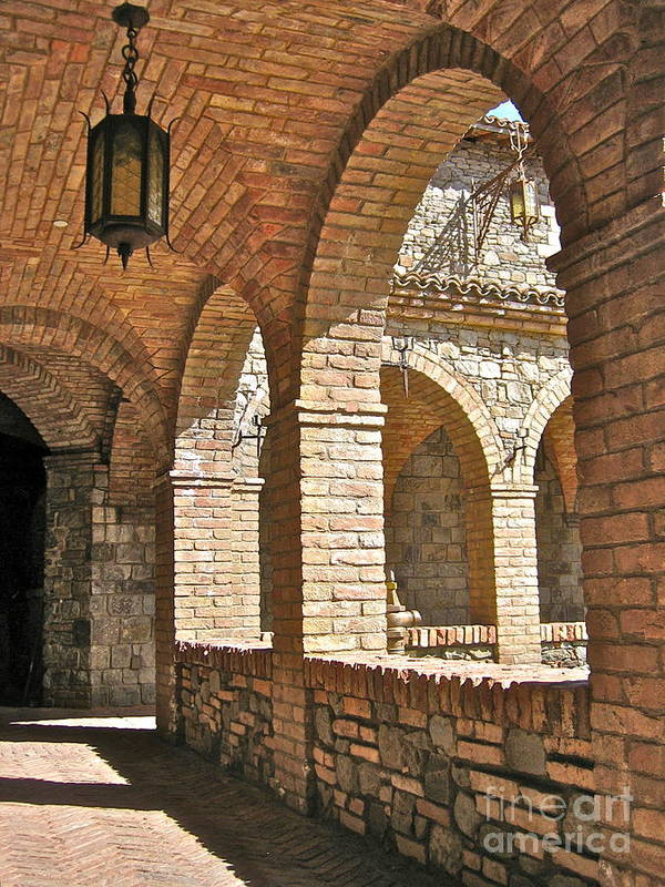 Angelica Dichiara Paintings Poster featuring the photograph Castello Amorosa by Italian Art