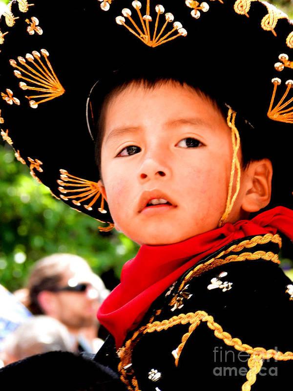 Al Bourassa Poster featuring the photograph Cuenca Kids 64 by Al Bourassa