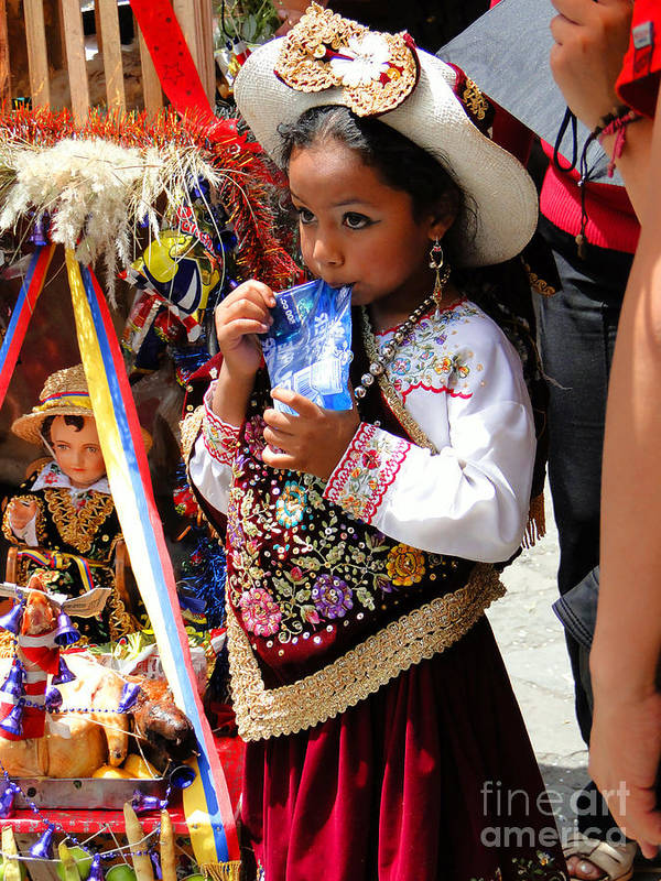 Al Bourassa Poster featuring the photograph Cuenca Kids 97 by Al Bourassa