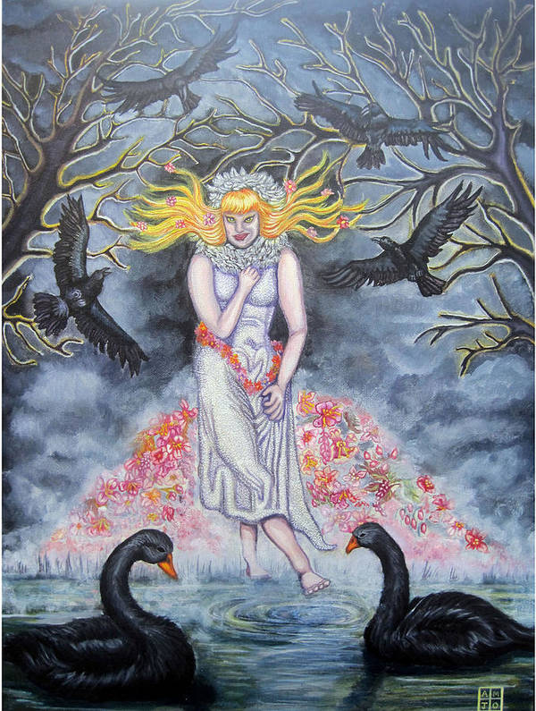 Trees Poster featuring the painting Fair Maiden by Amiee Johnson
