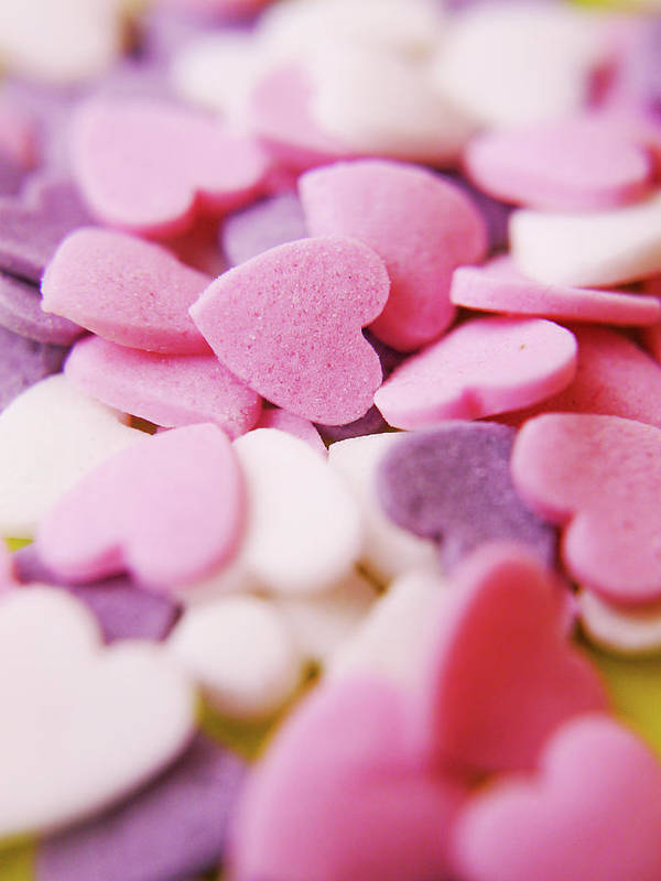Vertical Poster featuring the photograph Heart Shaped Candies by Rolfo