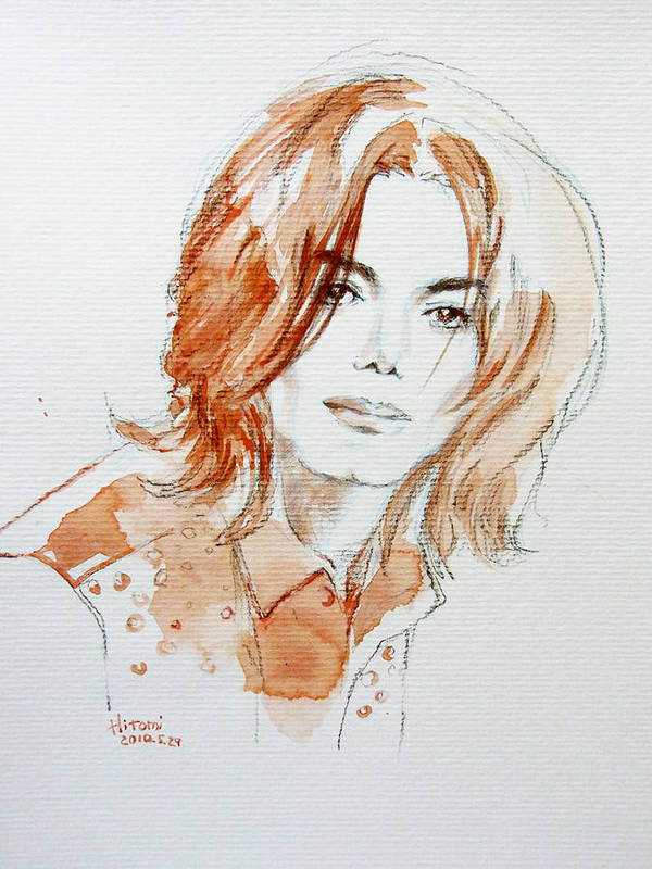 Michael Jackson Poster featuring the drawing Inner Beauty by Hitomi Osanai
