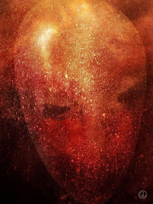 Mask Poster featuring the digital art Mask by Gun Legler