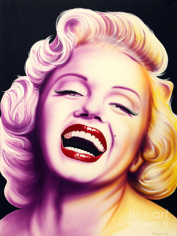 Marilyn Monroe Poster featuring the painting Norma Jean by Bruce Carter