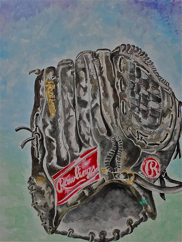 Rawlings Poster featuring the painting Rbg 36 B Ken Griffey Jr. by Jame Hayes