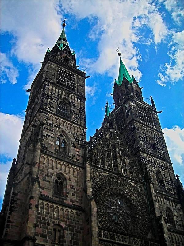 Europe Poster featuring the photograph St. Lorenz Church - Nuremberg by Juergen Weiss